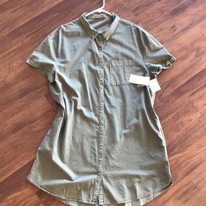 Dark Olive T shirt dress.